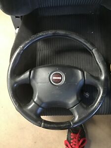 JDM SUBARU Impreza Liberty WRX Sti Momo Airbag Leather Steering Wheel impreza