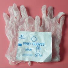 Elysaid 100 pairs Surgical Disposable Vinyl Gloves Sterile Vacuum Pack