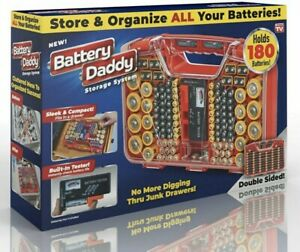 Battery Daddy 180 Battery Organizer and Storage Case Caddy Tester as seen on TV
