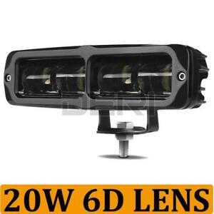 6inch 20W 6D LED Work Light Bar Driving Beam Offroad Car SUV Reverse 4WD 12V 24V