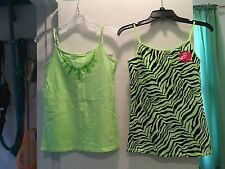 Lot Of Two Justice Tank Tops Juniors Size 16 NWT