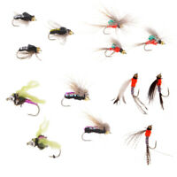 40Pcs Fly Fishing Flies Insects Salmon Trout Dry Fly Fishing Lures Fly Hooks