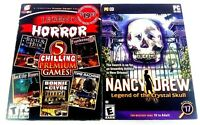 Legends of Horror 5 CHILLING Premium PC GAMES & Nancy Drew Legend of the Crystal
