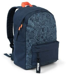 Nikon Foto Street-Rucksack Blau mit Motiv für Coolpix W150 W100