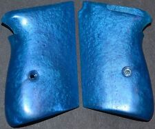 Walther PP PPK Pistol Grips Sapphire Blue plastic with screw