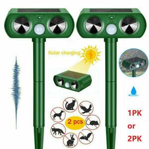 Ultrasonic Repellent Solar Power Animal Bird Scarer Deterrent Dog Fox Cat Pest