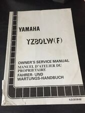 Yamaha YZ80LW(F) 1993 Owners Service Manual