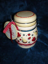 NOS - Harvest Grove Apples & Pears Ceramic Canister Kitchen Decanter Storage