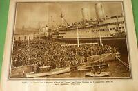 Pro Familia 1935 Napoli Shirts Black Si Imbarcano On Ship Ganges Africa Oriental
