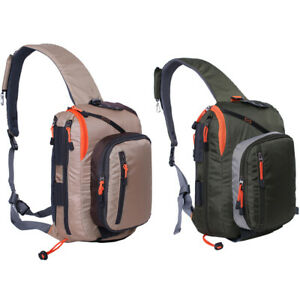 Fly Fishing Sling Bag With Fly Patch Big Storage Fishing Sling Chest Pack