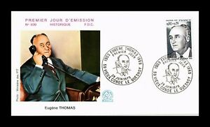 DR JIM STAMPS FAMOUS PERSONALITY EUGENE THOMAS FIRST DAY ISSUE FRANCE COVER 1975
