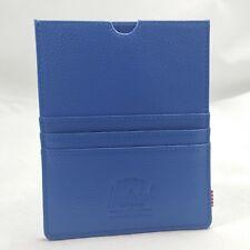 Herschel Supply Co. Eugene Leather Cobalt Blue Passport Holder Card Wallet