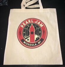 PEARL JAM - Missoula Grizzly TOTE BAG  Montana 2018 IN HAND away shows
