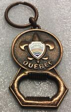 Vintage Canadian City Metal Keychain CHICOUTIMI Quebec Porte-Clés BOTTLE OPENER