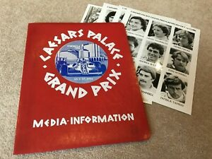 1981 Caesars Palace Grand Prix Media Information Package with Photos etc