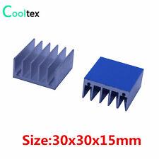 10pcs Aluminum Heatsink 30x30x15mm Radiator Cooling Cooler For Electronic Chip