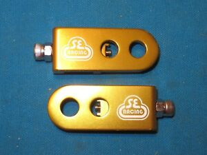 "SE Racing Bicycle Chain Tensioner Gold Lock Kit Fits 3/8"" Axle - New"