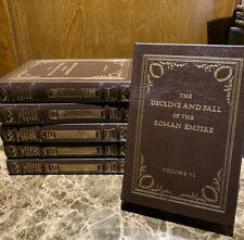 DECLINE AND FALL OF THE ROMAN EMPIRE  - Easton Press - Gibbon - - 6 Vol Set NEW