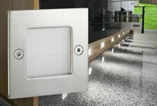 LED Wandeinbaustrahler Wandleuchte Edelstahl Treppenlicht Stufenlicht IP54 230V