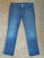 7 FOR ALL MANKIND womens Colette Straight jeans - size 29 - 31 x 31 -- Seven