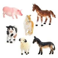 Kids Toy 6 pcs Farm Animal Model Set Pig Dog Cow Sheep Horse Donkey S5K4