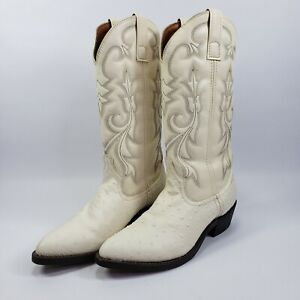 Laredo men's boots White Embossed Cowboy Western Size 7D Style 68016