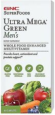 Ultra Mega Green Men's Multivitamin, GNC, 60 caplet