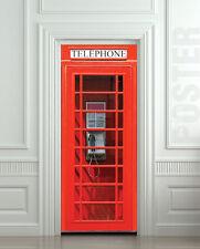 Door Fridge STICKER London Telephone Box phone booth mural decole film