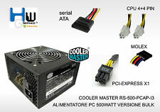 COOLER MASTER RS-500-PCAP-I3 ALIMENTATORE PC 500WATT VERSIONE BULK