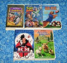 Disney 5 VHS Video Tapes with The Jungle Book and Toy Story Excellent Tested