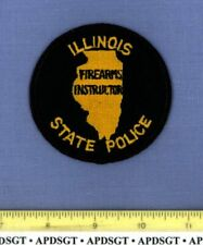 """ILLINOIS STATE POLICE FIREARMS INSTRUCTOR (3.5"""" Size OLD) Highway Patrol Patch"""