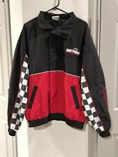 Vintage Embroidered Nascar Daytona 500 WindBreaker Jacket XL-Checkered/Black/Red