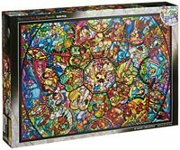 Disney Stained Art Jigsaw Puzzle [1000P] All Stars Stained Glass (Ds-1000-764)