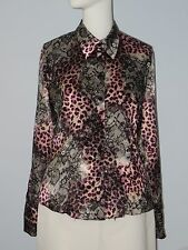 JUS D'ORANGE PARIS Size M (Unmarked) Purple Collared Long Sleeve Blouse