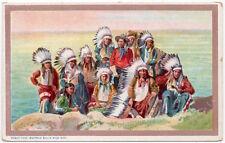 Postcard Cowboy Buffalo Bill's Wild West American Indians~107582