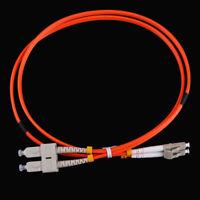 5m Jumper Cable Duplex Multimode LC-SC LC to SC Fiber Optic Optical Patch Cord