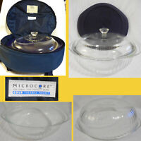 Pyrex 024-S 2 Qt 2L Ribbed Bowl & Lid + Blue 024-PC Plastic Lid & PYREX PORTABLE