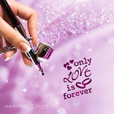 Airbrush klebe Schablonen TX092 NAILART love is forever Schriftzug Liebe Text
