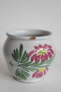 Raro Vaso Da Unguento Inizio XIX Sec. Ceramica Auvillar Sud Ovest Small Farmacia