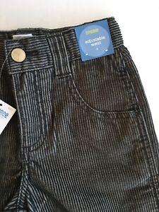 NWT Gymboree Turn It Up 5 5T Black & Gray Stripe Corduroy Pants