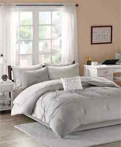 Intelligent Design Toren 9-Piece Full Comforter Set in Grey
