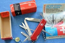 c1972 NOS NIB Wenger Forester Swiss Army Knife REF Victorinox Woodsman Small VTG