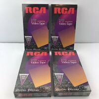New/Sealed Lot Of 4 Blank VHS Tapes RCA Premium T-120 6 Hours Hi-Fi Stereo