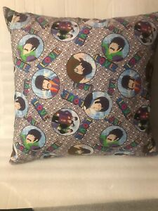 """THE BEATLES ~ YELLOW SUBMARINE  HANDMADE FROM BEATLES FABRIC  Feather Pillow 18"""""""