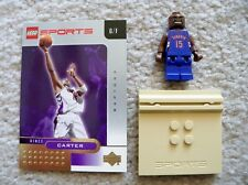 LEGO Basketball - Rare - NBA Vince Carter, Toronto Raptors w/ Gold Card & Stand
