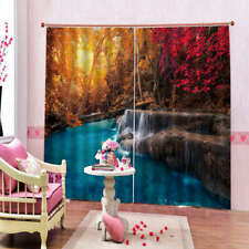 In Maple Wonderland 3D Curtain Blockout Photo Printing Curtains Drape Fabric