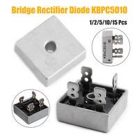 1-10PCS KBPC5010 50A 1000V Metal Case Single Phases Diode Bridge Rectifier