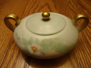 Heinrich H & Co Selb Bavaria Germany 2 Handle Sugar Bowl