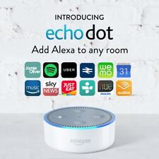 New Sealed Amazon Echo Dot Streamer White alexa 2nd generation
