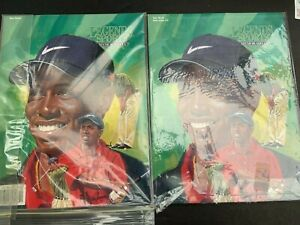 1997 TIGER WOODS LEGENDS SPORTS MAG. W 9 CARDS UNCUT SHEET + POST CARD